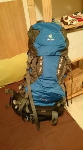 Un sac de voyage de backpacker